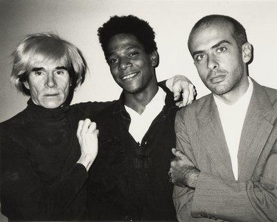 Andy Warhol, Jean-Michel Basquiat et Francesco Clemente, New York, 1984