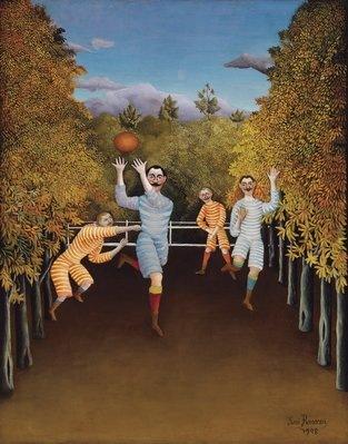 Henri Rousseau, Les joueurs de football, 1908, Huile sur toile