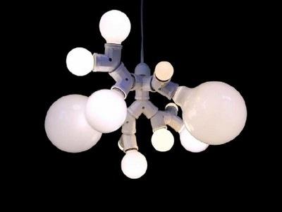 Mathieu MERCIER, Lampe double douille, 1999