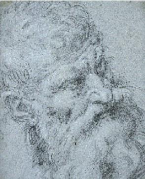 Dessin attribué à Guido Reni - Collection du Musée de Grenoble