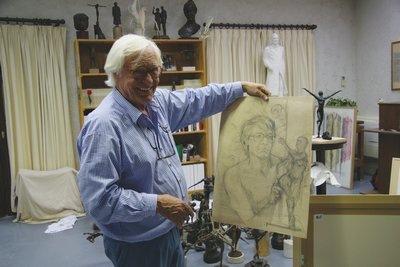 Photographie du sculpteur Kees Verkade