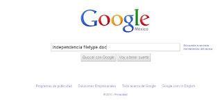 Buscar en Google por tipo de archivo