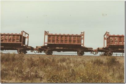 Sleeper laying between Haywood and Three Waterholes Road, 1st September 1984. Looking west