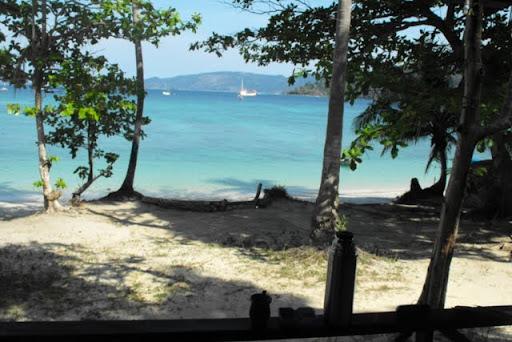 la vista desde el bungalow