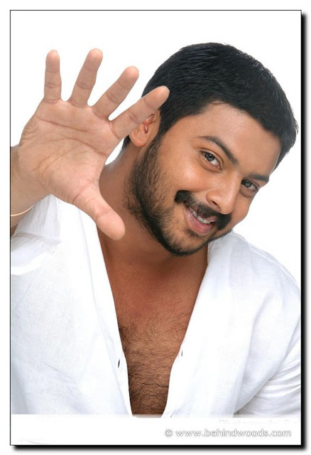 srikanth tamil actor hairy chest in an open white shirt looking cute