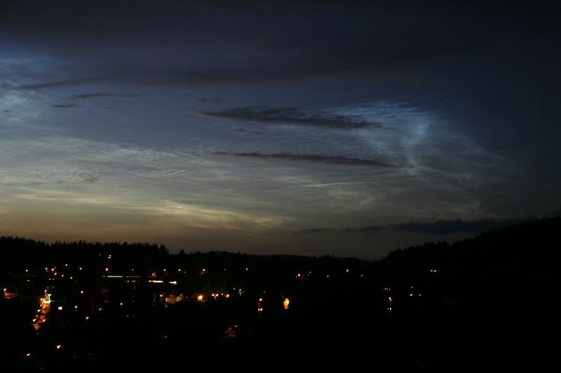 Noční svítící oblaka u Jablonce nad Nisou