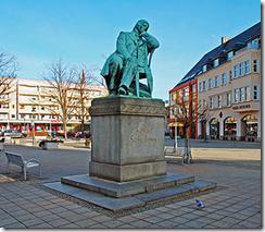 Estátua de Schumann em Zwickau