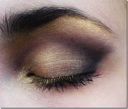 GOLD and black makeup