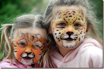 tiger jaguar face paint