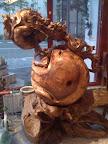 Un magnifique scutlure en bois