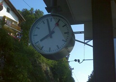 Swiss Train Clock - Montmollin