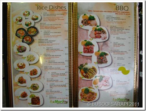 MARU RICE DISHES & BBQ© BUSOG! SARAP! 2011