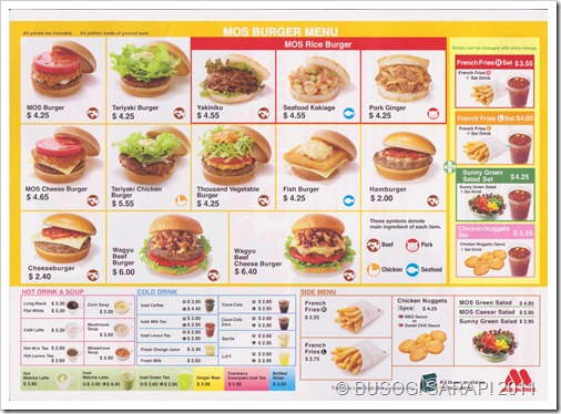 MOS TRIAL MENU ENDED 15TH APRIL 2011© BUSOG! SARAP! 2011