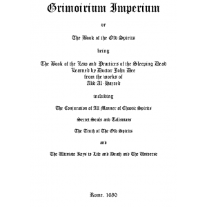 Grimoirium Imperium Or The Book Of The Old Spirits Cover
