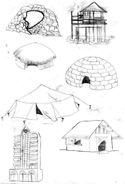 Dibujos de casas y partes de casas para colorear - Imagenes de casas para dibujar ...