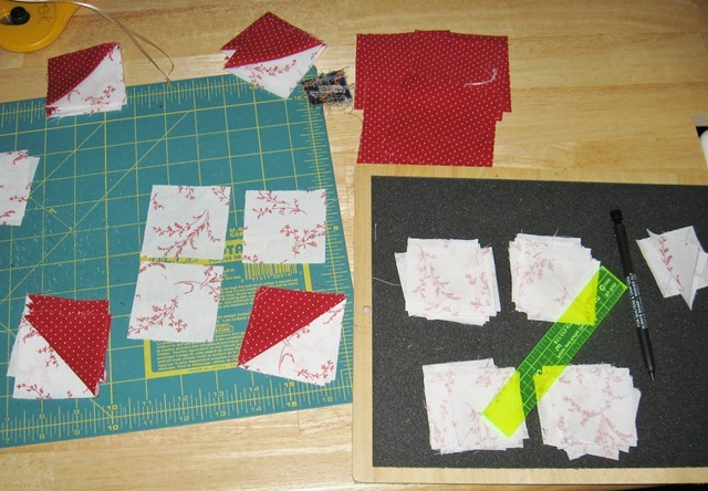 flying geese assembly line
