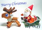 Санта Клаус с оленьей упряжкой