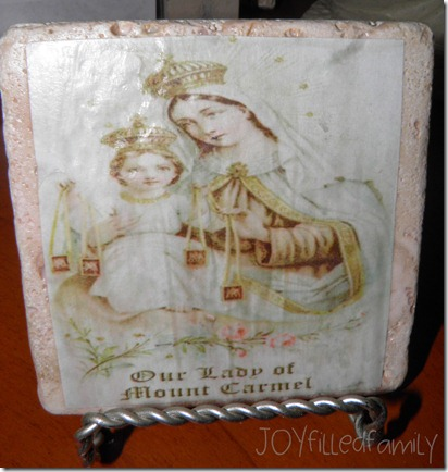 Our Lady of Mt Carmel Tile