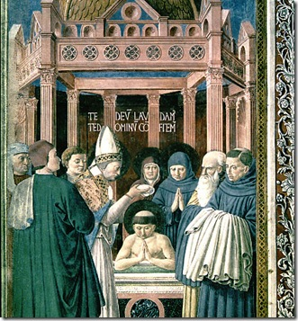 the baptism of st augustine in 387