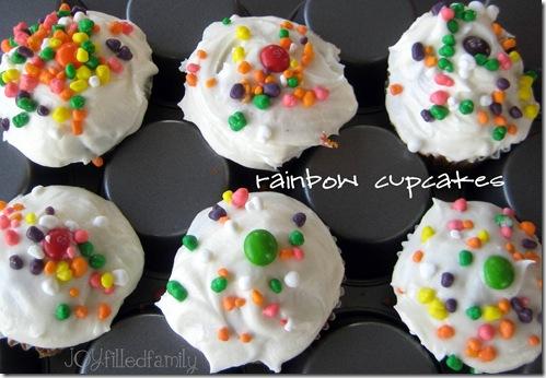 rainbow cupcakes joy