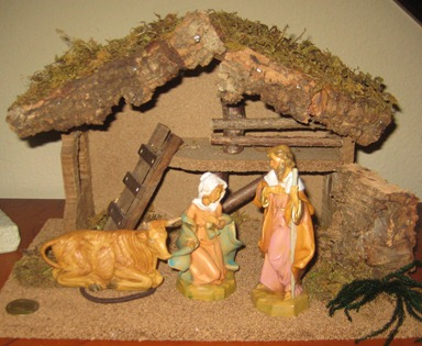 nativity on entry table