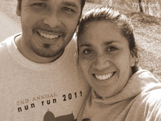mom and dad post run