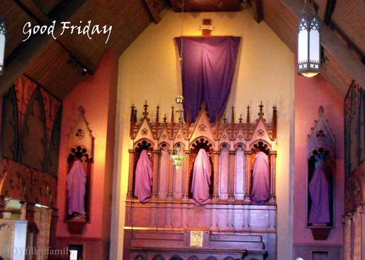 good friday bare altar