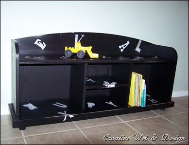 bookcase bench 019