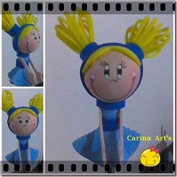 Ponteira Lili  roupa azul