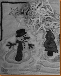a snowman grey small