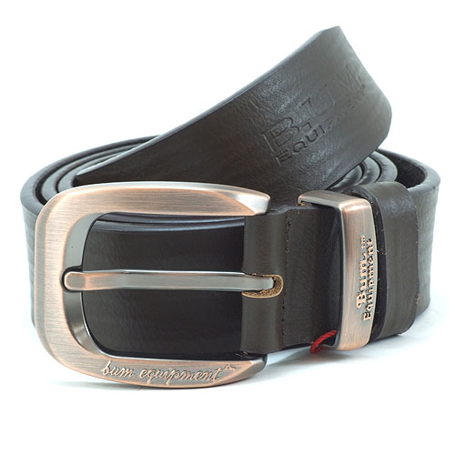 B.U.M. Equipment Men's Casual Leather Belt - BEB039 (Dark Brown)