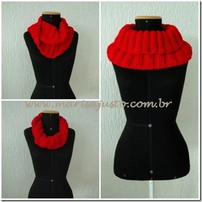 gola avulsa de tricot mariso justo
