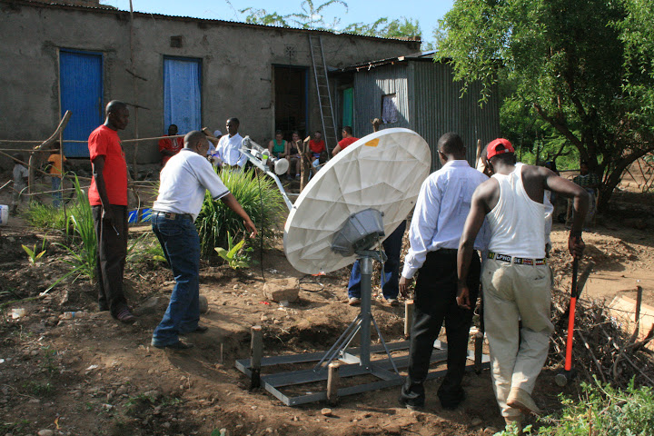Solar powered VSAT broadband for communities in Kenya