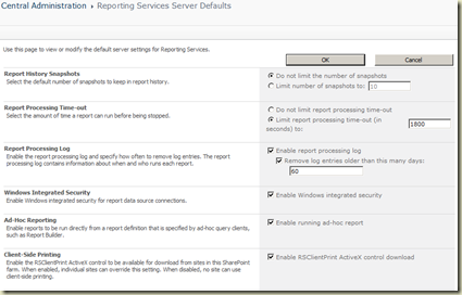 ReportingServicesServerDefaults