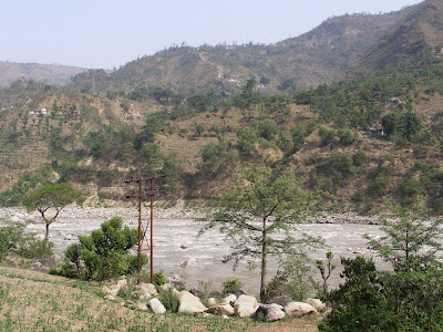 Sutlej as seen from the Hotel in Mandi