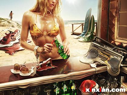 创意广告:Perrier–当一切都融化了-爱新鲜