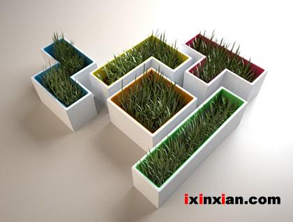 俄罗斯方块花盆(Tetris Pots)-爱新鲜