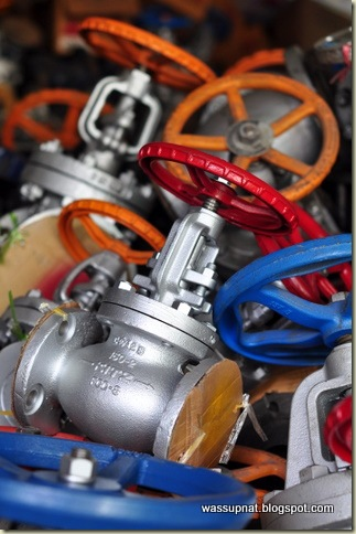 colourful valves