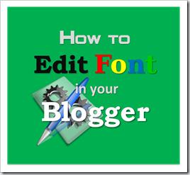สอนทำบล็อก ปรับแต่ง Font Blogger