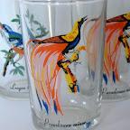 Vintage bird glassware