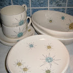 Franciscan Starburst dishes from my Grandma passed down to me (they were what she registered for when she was getting married in 1956)