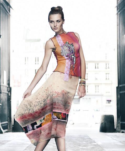Sunset Asymmetric Dress - Paulina Plizga Fashion