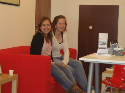 One of our Portuguese students with her teacher