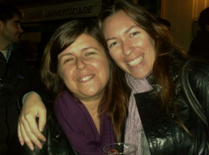 A Portuguese Language student and her teacher
