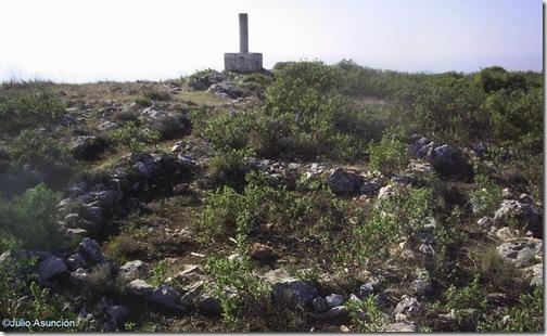 Restos de las casas del poblado
