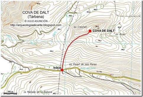 Mapa Cova de Dalt