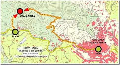 Mapa Cova Pinta