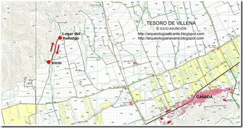 mapa tesoro de villena