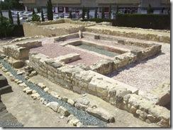 Domus romana construida sobre la muralla