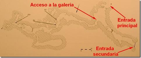 Cova Fosca - planta - Vall d´Ebo - ubicación paneles principales